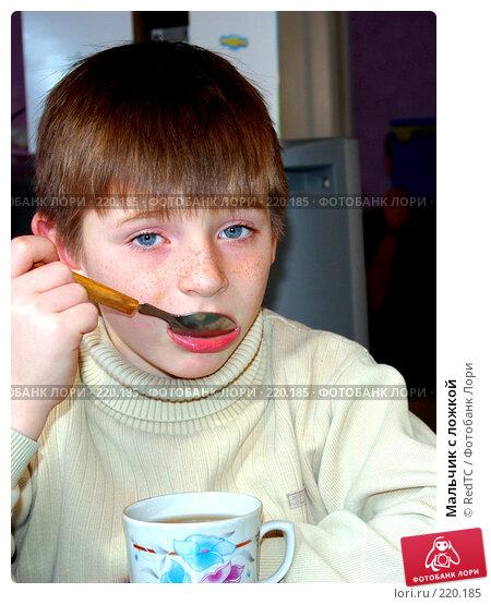 Мальчик с ложкой, фото № 220185, снято 9 марта 2008 г. (c) RedTC / Фотобанк Лори