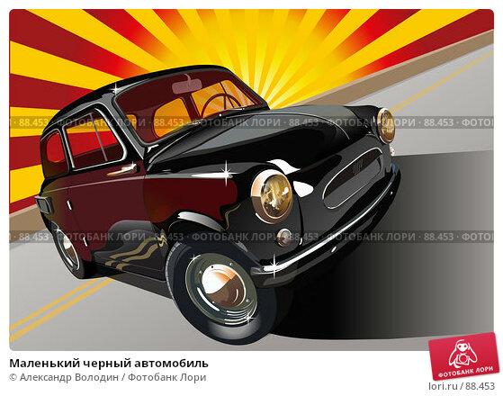 Маленький черный автомобиль (c векторным обтравочным контуром), фото № 88453, снято 29 июня 2017 г. (c) Александр Володин / Фотобанк Лори