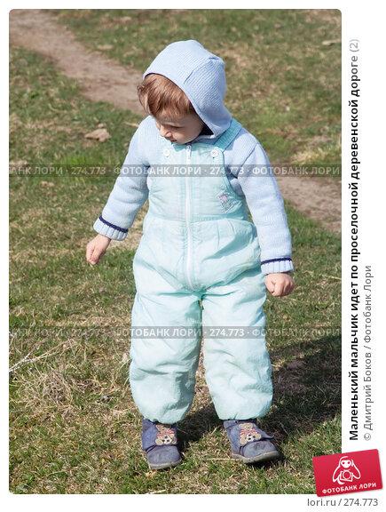 Маленький мальчик идет по проселочной деревенской дороге (2), фото № 274773, снято 20 апреля 2008 г. (c) Дмитрий Боков / Фотобанк Лори