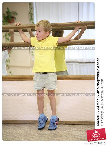 Купить «Маленький мальчик в спортивном зале», фото № 260837, снято 21 ноября 2017 г. (c) Losevsky Pavel / Фотобанк Лори