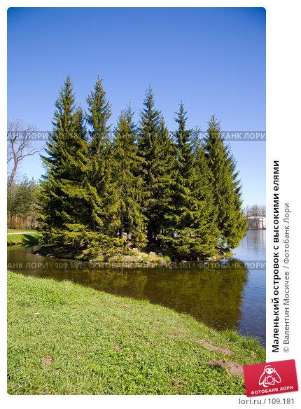 Маленький островок с высокими елями, фото № 109181, снято 13 мая 2007 г. (c) Валентин Мосичев / Фотобанк Лори