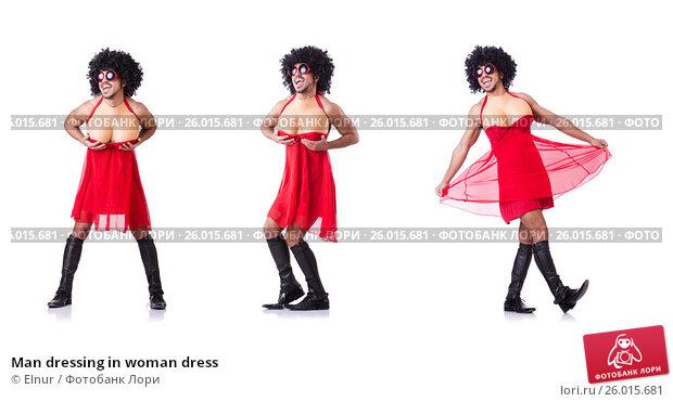 Купить «Man dressing in woman dress», фото № 26015681, снято 14 февраля 2013 г. (c) Elnur / Фотобанк Лори