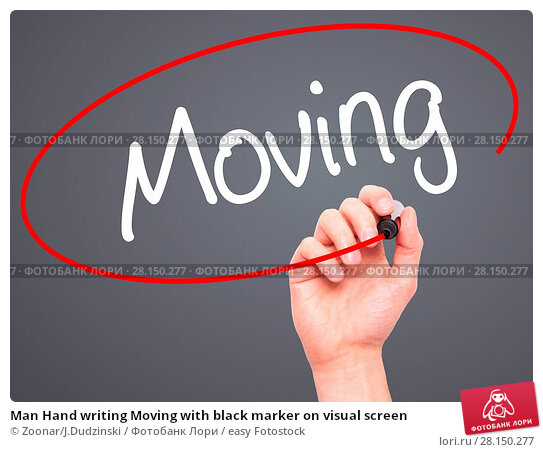 Купить «Man Hand writing Moving with black marker on visual screen», фото № 28150277, снято 21 июня 2018 г. (c) easy Fotostock / Фотобанк Лори