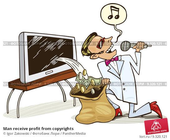 Купить «Man receive profit from copyrights», иллюстрация № 9320121 (c) PantherMedia / Фотобанк Лори