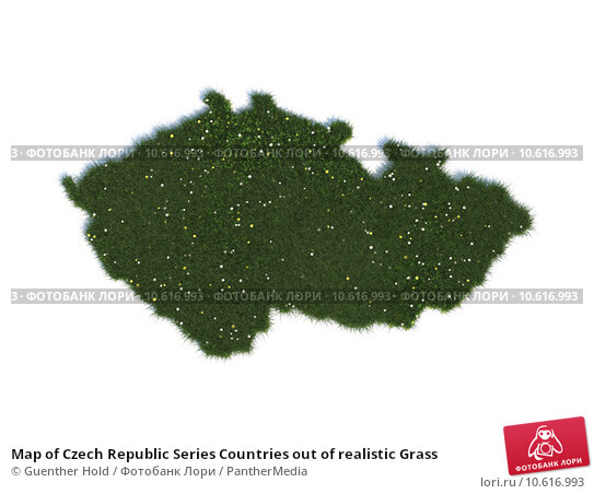 Map of Czech Republic Series Countries out of realistic Grass. Стоковое фото, фотограф Guenther Hold / PantherMedia / Фотобанк Лори