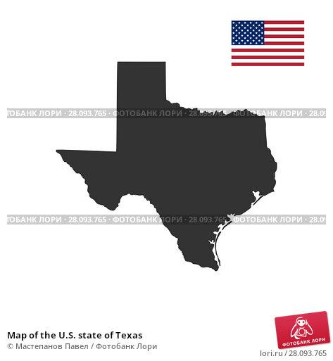 Купить «Map of the U.S. state of Texas», иллюстрация № 28093765 (c) Мастепанов Павел / Фотобанк Лори