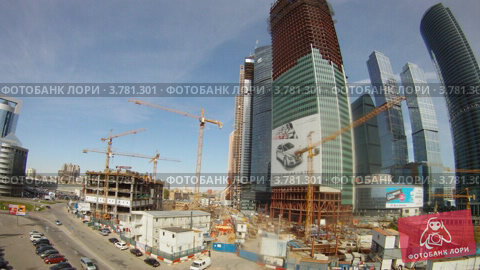 Машины у бизнес центра Москва-Сити, таймлапс, видеоролик № 3781301, снято 23 июня 2012 г. (c) Losevsky Pavel / Фотобанк Лори