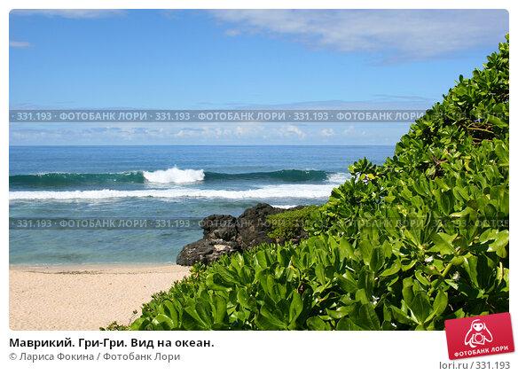 Маврикий. Гри-Гри. Вид на океан., фото № 331193, снято 3 мая 2008 г. (c) Лариса Фокина / Фотобанк Лори