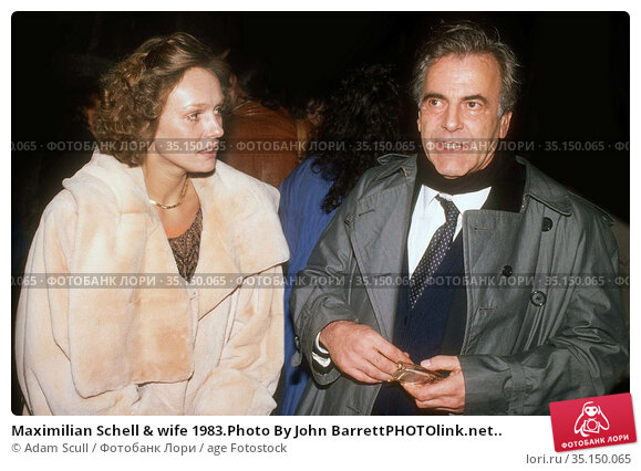 Maximilian Schell & wife 1983.Photo By John BarrettPHOTOlink.net.. Редакционное фото, фотограф Adam Scull / age Fotostock / Фотобанк Лори