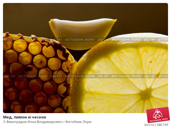 Купить «Мед, лимон и чеснок», фото № 240141, снято 24 октября 2007 г. (c) Виноградов Илья Владимирович / Фотобанк Лори