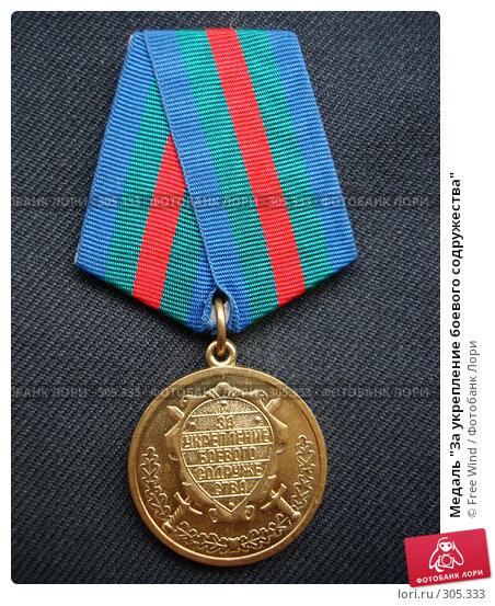 """Медаль """"За укрепление боевого содружества"""", эксклюзивное фото № 305333, снято 31 августа 2007 г. (c) Free Wind / Фотобанк Лори"""