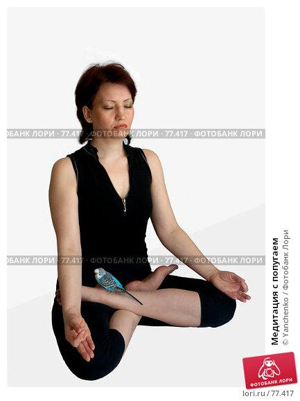 Медитация с попугаем, фото № 77417, снято 23 февраля 2017 г. (c) Yanchenko / Фотобанк Лори