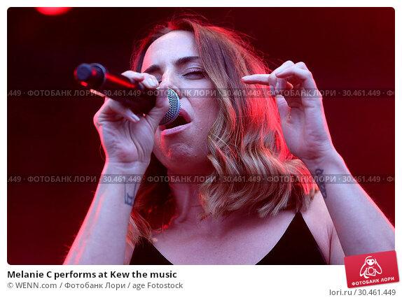 Melanie C performs at Kew the music (2017 год). Редакционное фото, фотограф WENN.com / age Fotostock / Фотобанк Лори
