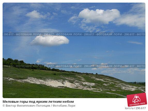 Меловые горы под ярким летним небом, фото № 290617, снято 28 мая 2006 г. (c) Виктор Филиппович Погонцев / Фотобанк Лори