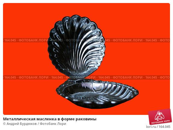 Металлическая масленка в форме раковины, фото № 164045, снято 8 апреля 2007 г. (c) Андрей Бурдюков / Фотобанк Лори