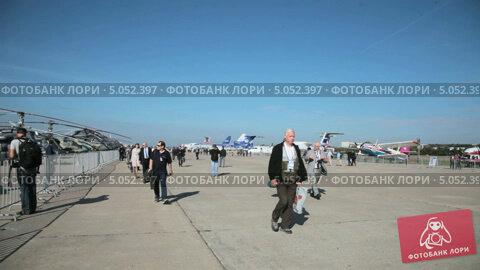 Международный авиационно-космический салон МАКС-2013. Редакционное видео, видеограф Игорь Долгов / Фотобанк Лори