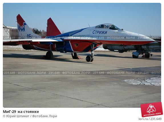Купить «МиГ-29  на стоянке», фото № 231649, снято 22 марта 2008 г. (c) Юрий Шпинат / Фотобанк Лори