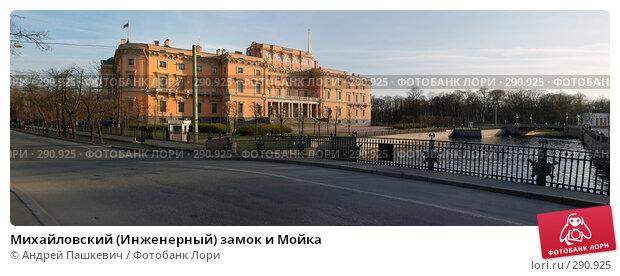 Михайловский (Инженерный) замок и Мойка, фото № 290925, снято 24 октября 2016 г. (c) Андрей Пашкевич / Фотобанк Лори
