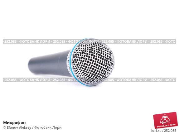 Купить «Микрофон», фото № 252085, снято 8 марта 2008 г. (c) Efanov Aleksey / Фотобанк Лори