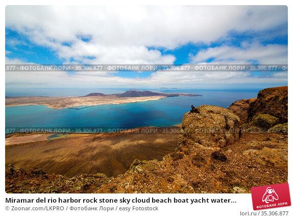 Miramar del rio harbor rock stone sky cloud beach boat yacht water... Стоковое фото, фотограф Zoonar.com/LKPRO / easy Fotostock / Фотобанк Лори