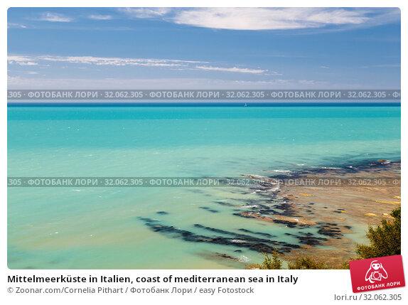 Mittelmeerküste in Italien, coast of mediterranean sea in Italy. Стоковое фото, фотограф Zoonar.com/Cornelia Pithart / easy Fotostock / Фотобанк Лори