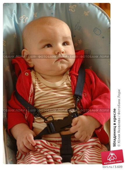 Младенец в кресле, фото № 3609, снято 5 апреля 2006 г. (c) Юлия Яковлева / Фотобанк Лори