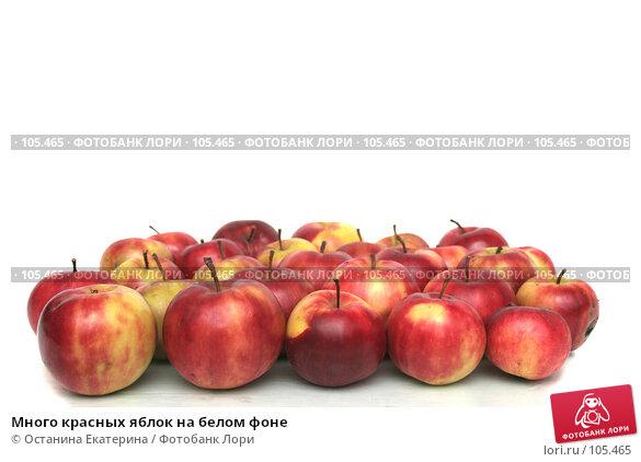 Много красных яблок на белом фоне, фото № 105465, снято 10 октября 2007 г. (c) Останина Екатерина / Фотобанк Лори