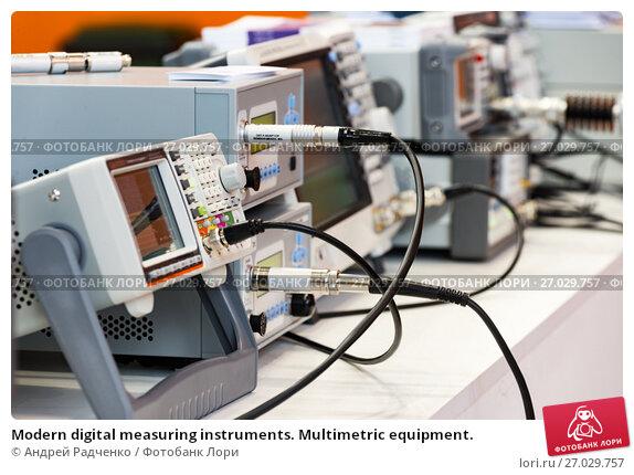 Купить «Modern digital measuring instruments. Multimetric equipment.», фото № 27029757, снято 18 мая 2017 г. (c) Андрей Радченко / Фотобанк Лори