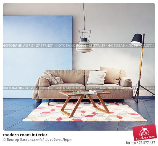 Купить «modern room interior.», фото № 27377437, снято 22 января 2018 г. (c) Виктор Застольский / Фотобанк Лори