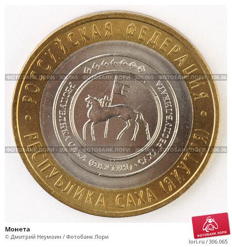 Купить «Монета», фото № 306065, снято 22 мая 2008 г. (c) Дмитрий Неумоин / Фотобанк Лори