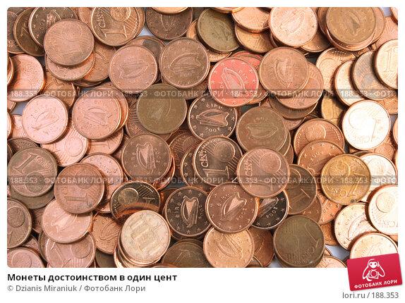 Монеты достоинством в один цент, фото № 188353, снято 10 ноября 2007 г. (c) Dzianis Miraniuk / Фотобанк Лори