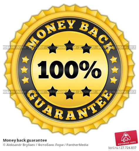 Купить «Money back guarantee», иллюстрация № 27724837 (c) PantherMedia / Фотобанк Лори