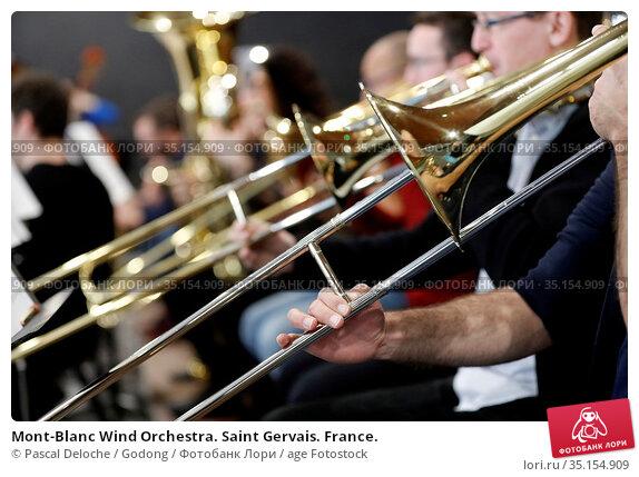 Mont-Blanc Wind Orchestra. Saint Gervais. France. Стоковое фото, фотограф Pascal Deloche / Godong / age Fotostock / Фотобанк Лори