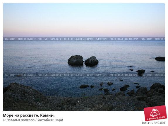 Купить «Море на рассвете. Камни.», эксклюзивное фото № 349801, снято 30 июня 2008 г. (c) Наталья Волкова / Фотобанк Лори