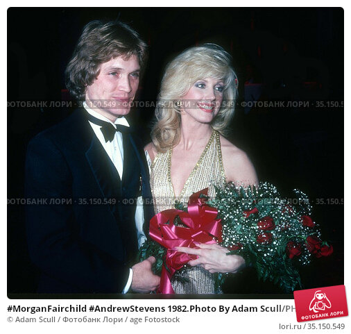 #MorganFairchild #AndrewStevens 1982.Photo By Adam Scull/PHOTOlink... Редакционное фото, фотограф Adam Scull / age Fotostock / Фотобанк Лори