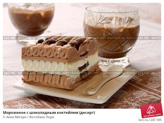 Мороженое с шоколадным коктейлем (десерт), фото № 247185, снято 5 апреля 2008 г. (c) Анна Мегеря / Фотобанк Лори