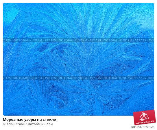 Морозные узоры на стекле, фото № 197125, снято 23 декабря 2007 г. (c) Kribli-Krabli / Фотобанк Лори