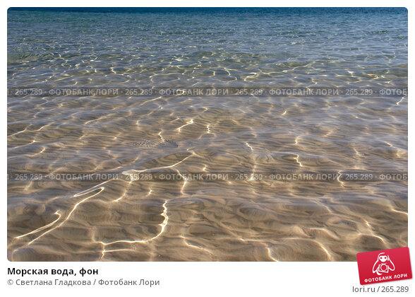 Купить «Морская вода, фон», фото № 265289, снято 5 марта 2008 г. (c) Cветлана Гладкова / Фотобанк Лори
