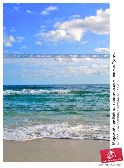 Купить «Морской прибой на тропическом пляже. Тунис», фото № 271285, снято 23 ноября 2017 г. (c) Вероника Галкина / Фотобанк Лори