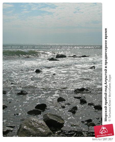 Купить «Морской прибой под Алуштой в предвечернее время», эксклюзивное фото № 287357, снято 27 сентября 2005 г. (c) Татьяна Юни / Фотобанк Лори