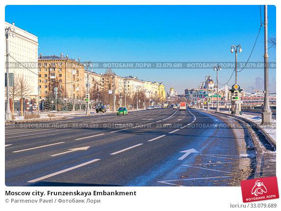 Купить «Moscow city. Frunzenskaya Embankment», фото № 33079689, снято 8 февраля 2020 г. (c) Parmenov Pavel / Фотобанк Лори