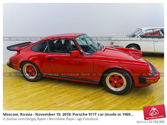 Moscow, Russia - November 10, 2018: Porsche 911T car (made in 1969... Стоковое фото, фотограф Zoonar.com/Sergey Rybin / age Fotostock / Фотобанк Лори