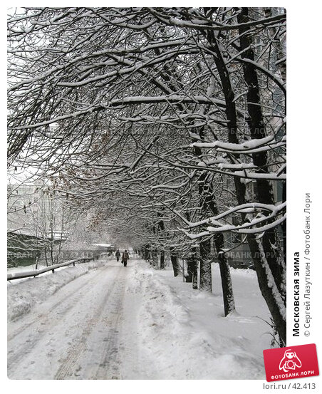 Московская зима, фото № 42413, снято 15 февраля 2007 г. (c) Сергей Лазуткин / Фотобанк Лори