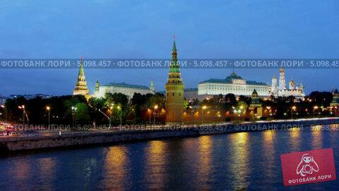 Купить «Московский Кремль, таймлапс», видеоролик № 5098457, снято 24 сентября 2013 г. (c) Михаил Коханчиков / Фотобанк Лори