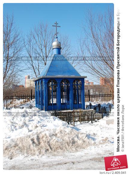 Купить «Москва. Часовня около церкви Покрова Пресвятой Богородицы в Братцево», эксклюзивное фото № 2409041, снято 9 марта 2011 г. (c) lana1501 / Фотобанк Лори