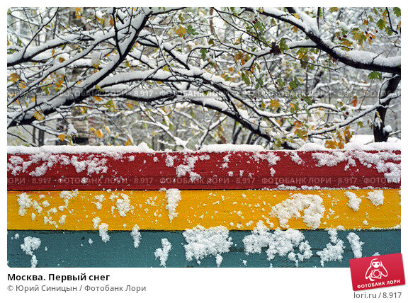 Москва. Первый снег, фото № 8917, снято 25 мая 2017 г. (c) Юрий Синицын / Фотобанк Лори