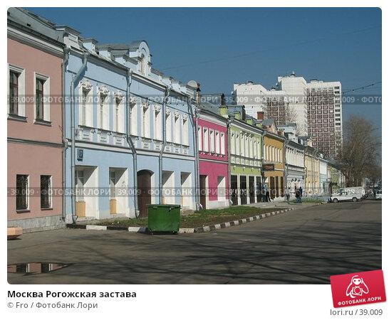 Москва Рогожская застава, фото № 39009, снято 18 апреля 2004 г. (c) Fro / Фотобанк Лори