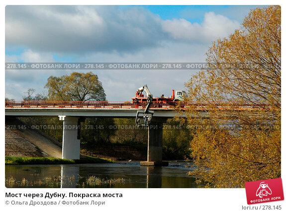 Мост через Дубну. Покраска моста, фото № 278145, снято 10 октября 2004 г. (c) Ольга Дроздова / Фотобанк Лори