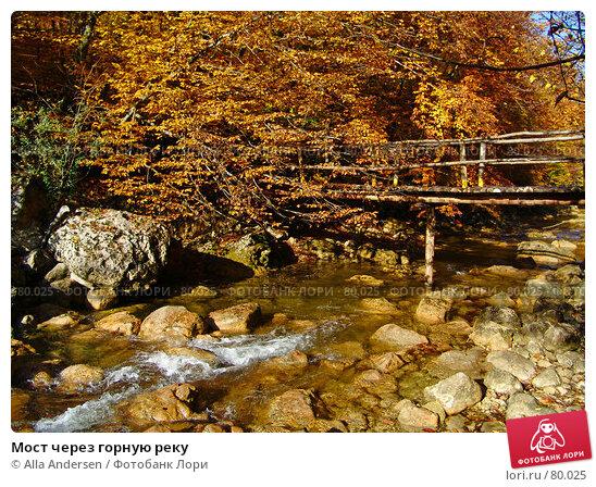 Мост через горную реку, фото № 80025, снято 27 октября 2006 г. (c) Alla Andersen / Фотобанк Лори