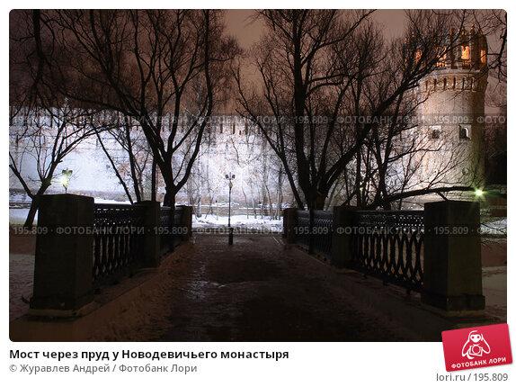 Мост через пруд у Новодевичьего монастыря, эксклюзивное фото № 195809, снято 29 января 2008 г. (c) Журавлев Андрей / Фотобанк Лори